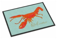 Carolines Treasures  BB8534MAT Lobster Welcome Indoor or Outdoor Mat 18x27 - 18Hx27W