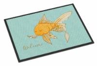 Carolines Treasures  BB8551MAT Gold Fish Welcome Indoor or Outdoor Mat 18x27 - 18Hx27W