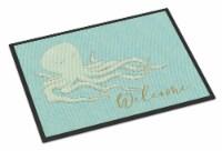 Carolines Treasures  BB8553MAT Octopus Welcome Indoor or Outdoor Mat 18x27 - 18Hx27W