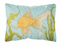 Carolines Treasures  BB8544PW1216 Gold Fish Canvas Fabric Decorative Pillow - 12Hx16W