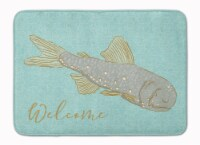 Carolines Treasures  BB8550RUG Fish Welcome Machine Washable Memory Foam Mat
