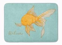 "Gold Fish Welcome Machine Washable Memory Foam Mat - 19 X 27"""