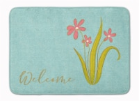 Carolines Treasures  BB8552RUG Flowers Welcome Machine Washable Memory Foam Mat