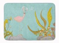 Flamingo Underwater #2 Machine Washable Memory Foam Mat
