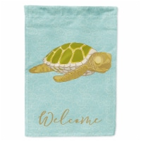 Carolines Treasures  BB8570CHF Sea Turtle Welcome Flag Canvas House Size