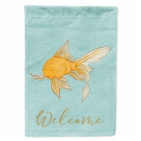 Carolines Treasures  BB8579CHF Gold Fish Welcome Flag Canvas House Size - House Size