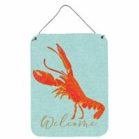 Carolines Treasures  BB8585DS1216 Lobster Welcome Wall or Door Hanging Prints - 16HX12W