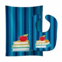 Carolines Treasures  BB8870STBU Back to School Books Baby Bib & Burp Cloth - 1