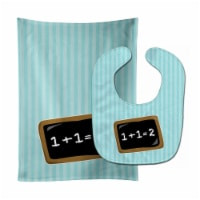 Carolines Treasures  BB9027STBU Back to School Math Baby Bib & Burp Cloth - 1