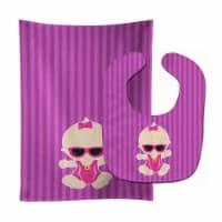 Beach Baby Girl Sunglasses Sarah Baby Bib & Burp Cloth - 1