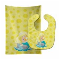 Beach Mermaid Blonde Hair Toni Baby Bib & Burp Cloth - 1