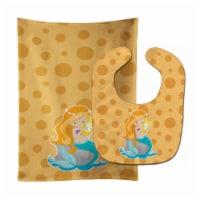 Beach Mermaid Ginger Hair Laurie Baby Bib & Burp Cloth