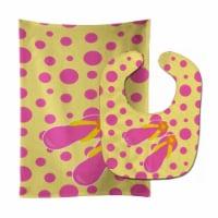 Carolines Treasures  BB8816STBU Beach Pink Flip Flops Baby Bib & Burp Cloth - 1