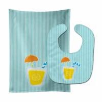 Carolines Treasures  BB8647STBU Beach Umbrella Drink Baby Bib & Burp Cloth - 1