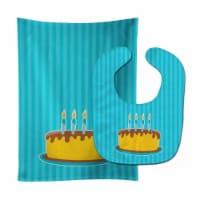 Carolines Treasures  BB8939STBU Birthday Cake Baby Bib & Burp Cloth - 1