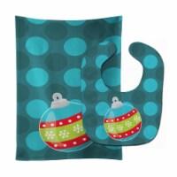 Carolines Treasures  BB9022STBU Christmas Ornament Baby Bib & Burp Cloth