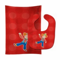 Carolines Treasures  BB8701STBU Circus Clown Baby Bib & Burp Cloth