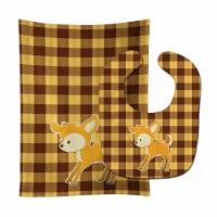 Carolines Treasures  BB9170STBU Deer #3 Baby Bib & Burp Cloth