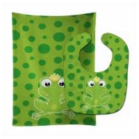 Carolines Treasures  BB8990STBU Frog Prince #3 Baby Bib & Burp Cloth