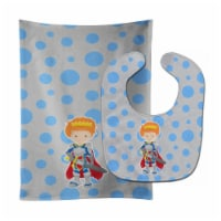 Carolines Treasures  BB8744STBU Ginger Boy Knight Baby Bib & Burp Cloth