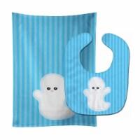 Carolines Treasures  BB8792STBU Halloween Ghost Baby Bib & Burp Cloth - 1