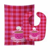 Carolines Treasures  BB9130STBU I love you a Latte Baby Bib & Burp Cloth