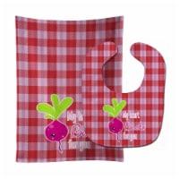 Carolines Treasures  BB9132STBU My heart Beets for You Baby Bib & Burp Cloth