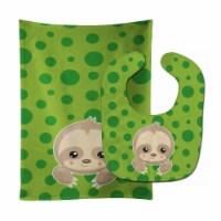 Carolines Treasures  BB9035STBU Sloth Paws Baby Bib & Burp Cloth - 1