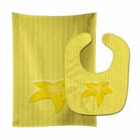 Carolines Treasures  BB8640STBU Starfish Baby Bib & Burp Cloth