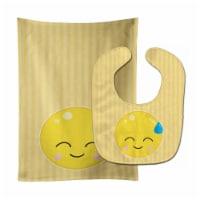 Carolines Treasures  BB8735STBU Sweating Face Baby Bib & Burp Cloth