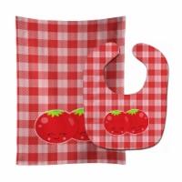 Carolines Treasures  BB9139STBU Tomatoes Baby Bib & Burp Cloth - 1