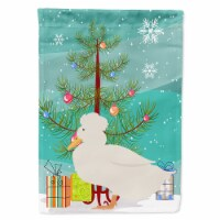 Carolines Treasures  BB9224CHF Crested Duck Christmas Flag Canvas House Size - House Size