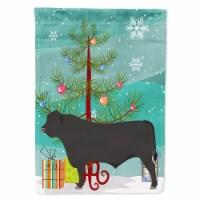 Carolines Treasures  BB9195GF Black Angus Cow Christmas Flag Garden Size - Garden Size