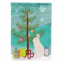 New Zealand White Rabbit Christmas Flag Garden Size - Garden Size