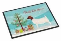 Carolines Treasures  BB9253JMAT Boer Goat Christmas Indoor or Outdoor Mat 24x36
