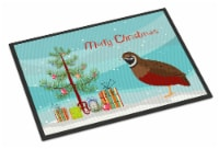 Chinese Painted or King Quail Christmas Indoor or Outdoor Mat 24x36