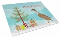 Dutch Hook Bill Duck Christmas Glass Cutting Board Large - 12Hx15W