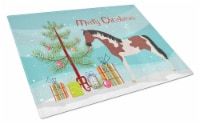 Carolines Treasures  BB9274LCB Pinto Horse Christmas Glass Cutting Board Large - 12Hx15W