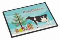 Holstein Cow Christmas Indoor or Outdoor Mat 18x27 - 18Hx27W