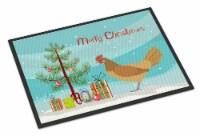 Frisian Friesian Chicken Christmas Indoor or Outdoor Mat 18x27