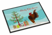 Malaysian Serama Chicken Christmas Indoor or Outdoor Mat 18x27