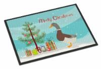 Saxony Sachsenente Duck Christmas Indoor or Outdoor Mat 18x27