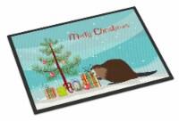 Eurasian Beaver Christmas Indoor or Outdoor Mat 18x27