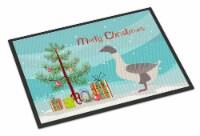 Buff Grey Back Goose Christmas Indoor or Outdoor Mat 18x27