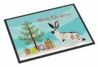 English Spot Rabbit Christmas Indoor or Outdoor Mat 18x27 - 18Hx27W