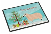 Kerry Hill Sheep Christmas Indoor or Outdoor Mat 18x27 - 18Hx27W