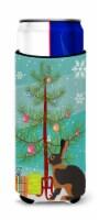 Tan Rabbit Christmas Michelob Ultra Hugger for slim cans - Slim Can