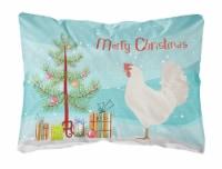 Leghorn Chicken Christmas Canvas Fabric Decorative Pillow