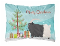 Welsh Black-Necked Goat Christmas Canvas Fabric Decorative Pillow