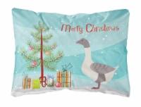 Buff Grey Back Goose Christmas Canvas Fabric Decorative Pillow